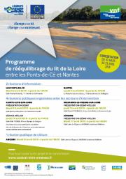 Le programme de rééquilibrage du lit de la Loire en concertation du 30 mars au 29 avril 2018