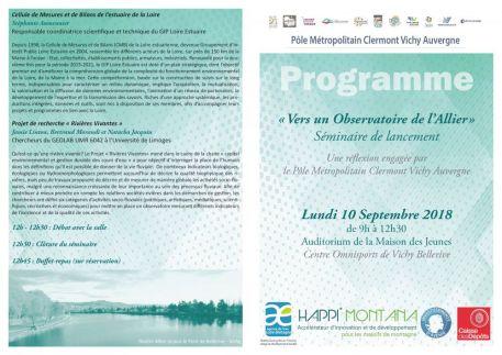 Vers un Observatoire de l'Allier : Le GIP Loire Estuaire présent au séminaire de lancement