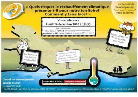 Changement climatique : conférence-débat en ligne