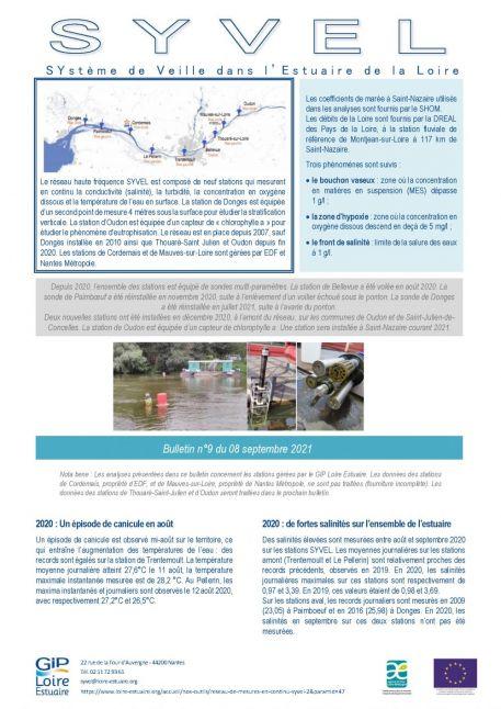 Suivis : Publication du bulletin SYVEL n°9