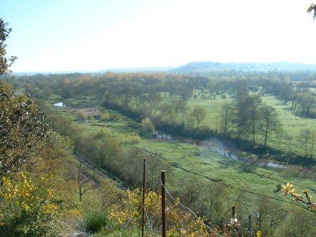 Boire du Cellier et île Neuve depuis le Rocher des Thébaudières surplombant la vallée de la Loire