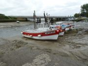 Port de Méan sur le Brivet, dernier affluent de la Loire joignant la Brière à la Loire