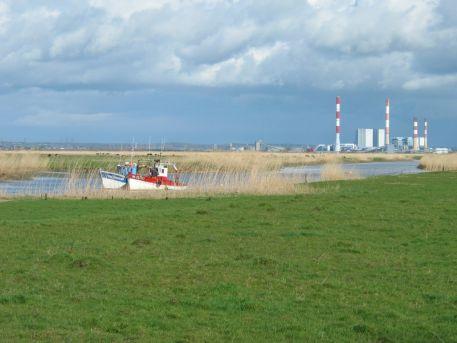 La centrale thermique de Cordemais dans l'estuaire de la Loire