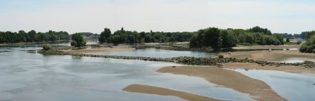 La Loire à marée basse à Mauves-sur-Loire
