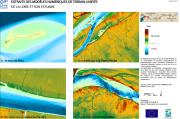 Extraits des modèles numériques de terrain unifiés de la Loire et son estuaire