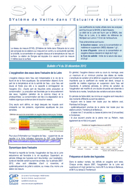 Suivis : Publication du bulletin SYVEL n°4