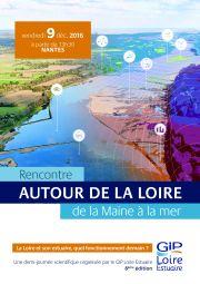 Agenda : 8ème édition de la demi-journée scientifique, le 9 décembre 2016 - la Loire et son estuaire, quel fonctionnement demain ?
